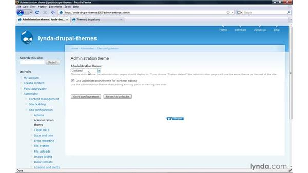 Installing a new theme: Drupal 6: Creating and Editing Custom Themes