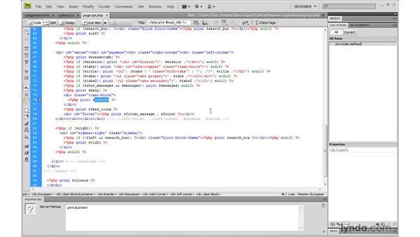 Building a sub-theme: Adding custom theme regions: Drupal 6: Creating and Editing Custom Themes