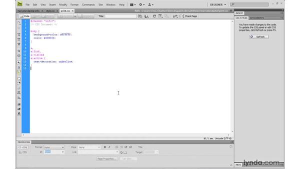 Creating a print style sheet: Drupal 6: Creating and Editing Custom Themes