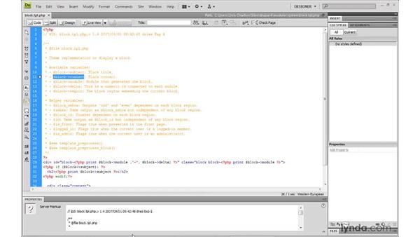 Understanding block templates: Drupal 6: Creating and Editing Custom Themes