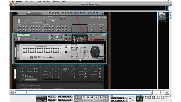 Working with the Vocoder: Reason and Record for Live Performance