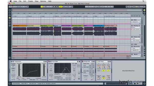 Reviewing the setup of a live rig with Ableton: Reason and Record for Live Performance