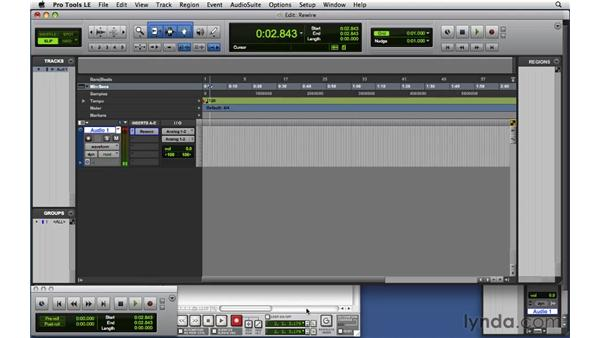 Using ReWire with Pro Tools: Reason and Record for Live Performance