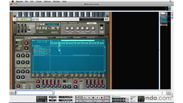 Why and how to use the NN-XT's multiple outs: Reason and Record for Live Performance