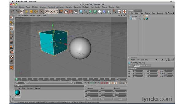 Overview of the interface: CINEMA 4D R11.5 Essential Training