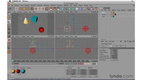 Using viewports: CINEMA 4D R11.5 Essential Training