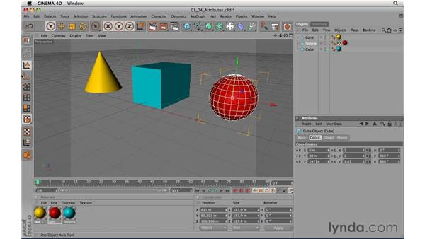 Touring the Attribute Manager: CINEMA 4D R11.5 Essential Training