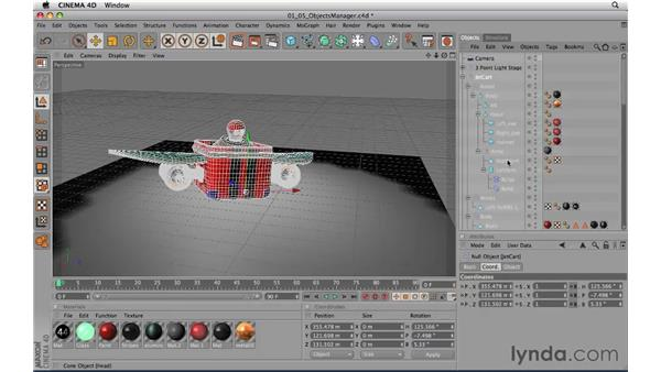 Using the Object Manager: CINEMA 4D R11.5 Essential Training