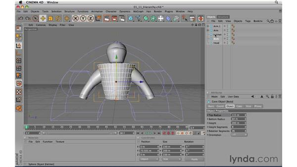 Grouping objects: CINEMA 4D R11.5 Essential Training