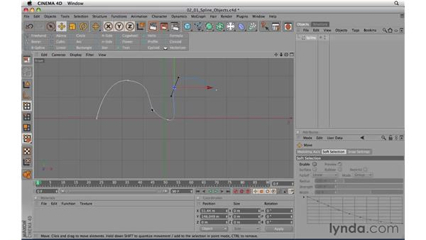 Creating splines: CINEMA 4D R11.5 Essential Training