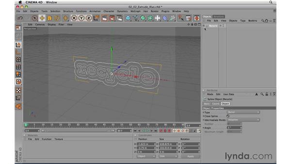 Importing Illustrator files: CINEMA 4D R11.5 Essential Training