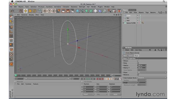 Using Sweep NURBS objects: CINEMA 4D R11.5 Essential Training