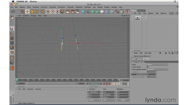 Using Loft NURBS objects: CINEMA 4D R11.5 Essential Training