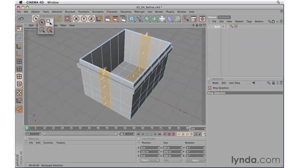 Refining a model: CINEMA 4D R11.5 Essential Training
