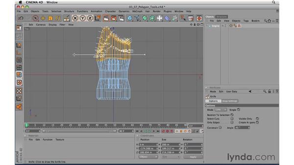 Using the polygon tools: CINEMA 4D R11.5 Essential Training
