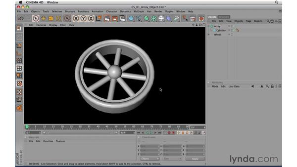 Modeling with Array: CINEMA 4D R11.5 Essential Training