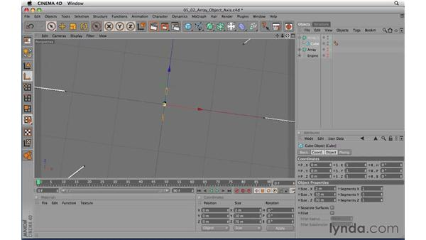Array object axis: CINEMA 4D R11.5 Essential Training