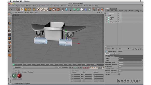 Modeling with Booleans: CINEMA 4D R11.5 Essential Training