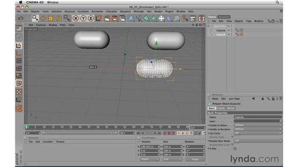 Disconnect and Split: CINEMA 4D R11.5 Essential Training