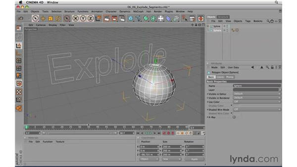 Explode Segments: CINEMA 4D R11.5 Essential Training
