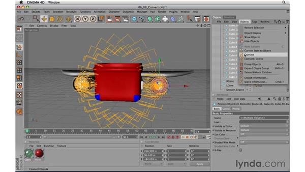 Converting modeling objects: CINEMA 4D R11.5 Essential Training