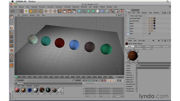 Shaders: CINEMA 4D R11.5 Essential Training