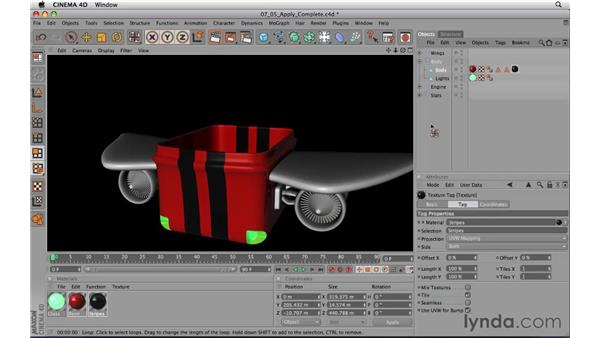 Applying materials to a complete model: CINEMA 4D R11.5 Essential Training