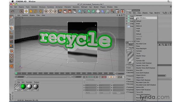 Animated textures: CINEMA 4D R11.5 Essential Training