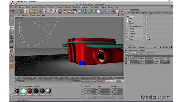 Using target lights and target cameras: CINEMA 4D R11.5 Essential Training