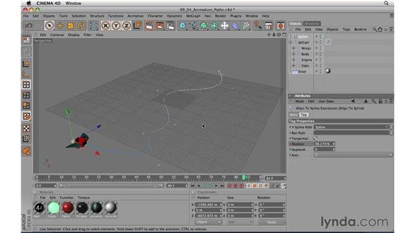 Animation paths: CINEMA 4D R11.5 Essential Training