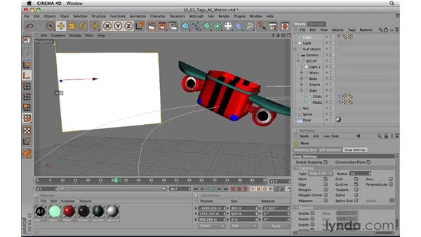 Setting up tags for After Effects and Motion: CINEMA 4D R11.5 Essential Training