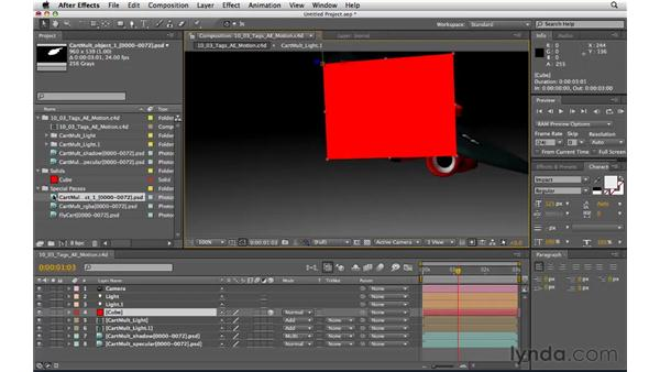 Integrating with After Effects: CINEMA 4D R11.5 Essential Training