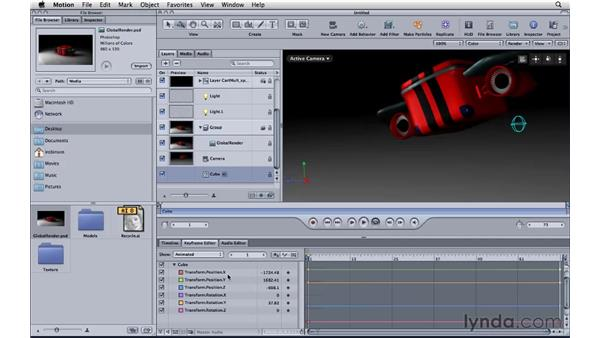 Integrating with Motion 4: CINEMA 4D R11.5 Essential Training