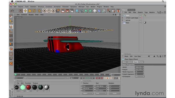 Introducing Global Illumination: CINEMA 4D R11.5 Essential Training
