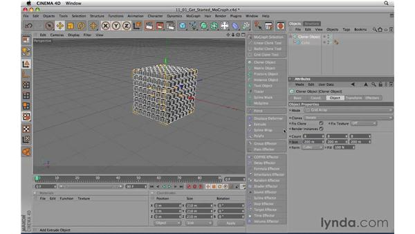 Getting started with MoGraph: CINEMA 4D R11.5 Essential Training