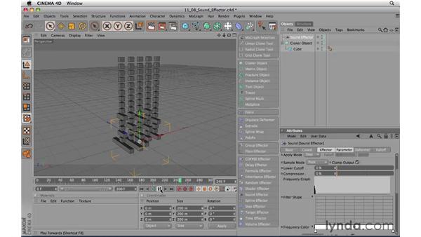 Using the Sound Effector: CINEMA 4D R11.5 Essential Training