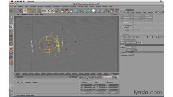 Manipulating particles: CINEMA 4D R11.5 Essential Training