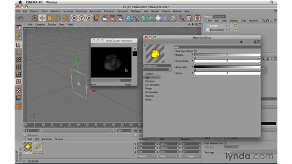 Manipulating a Pyro Cluster: CINEMA 4D R11.5 Essential Training