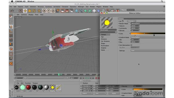 Adding a Pyro Cluster to an animation: CINEMA 4D R11.5 Essential Training