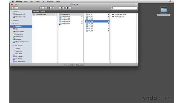 Using the exercise files: Photoshop CS4: Image Compositing for Photographers