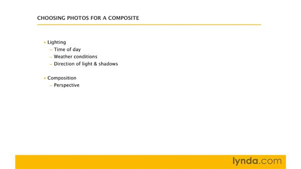 Choosing images: Photoshop CS4: Image Compositing for Photographers