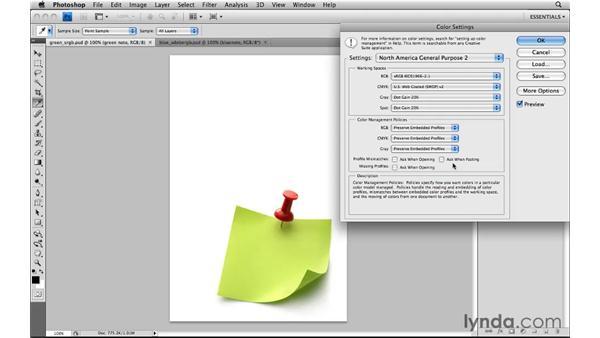 Customizing color settings: Photoshop CS4: Image Compositing for Photographers