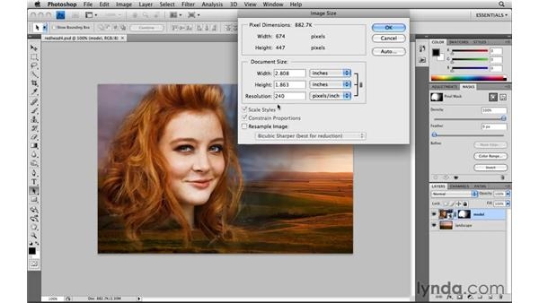 Resizing and saving a copy: Photoshop CS4: Image Compositing for Photographers