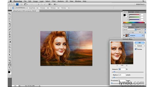 Sharpening a composite layer: Photoshop CS4: Image Compositing for Photographers
