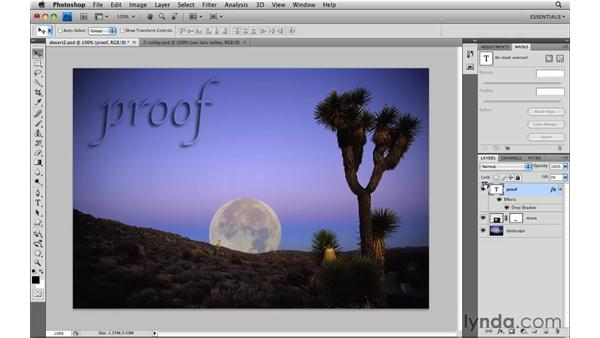 Adjusting layer opacity and blend modes: Photoshop CS4: Image Compositing for Photographers