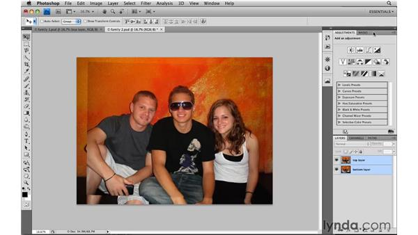 Combining the best of group shots: Photoshop CS4: Image Compositing for Photographers