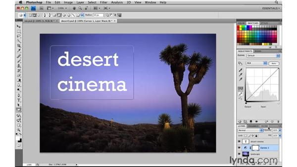 Setting off type with a text box: Photoshop CS4: Image Compositing for Photographers