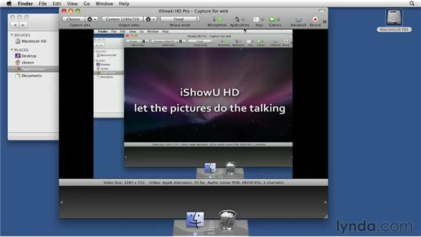Recording with iShowU: Screencasting with the Mac