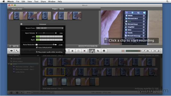 Touring the iMovie interface: Screencasting with the Mac