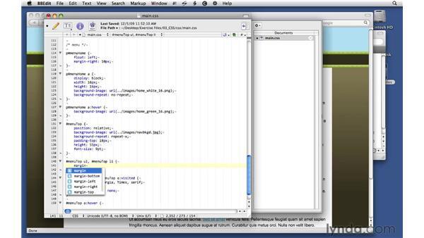 Formatting menu navigation: Creating Dynamic Menus